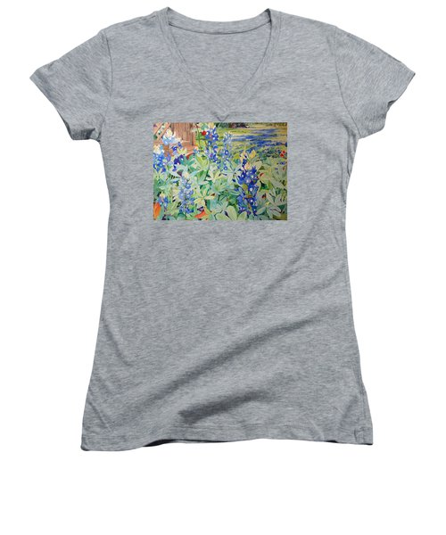 Bluebonnet Beauties Women's V-Neck T-Shirt
