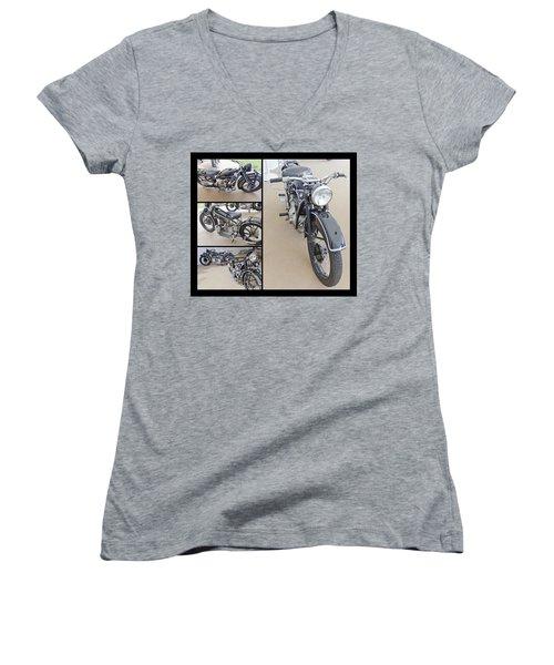 Bmw Art Deco Bikes Women's V-Neck (Athletic Fit)