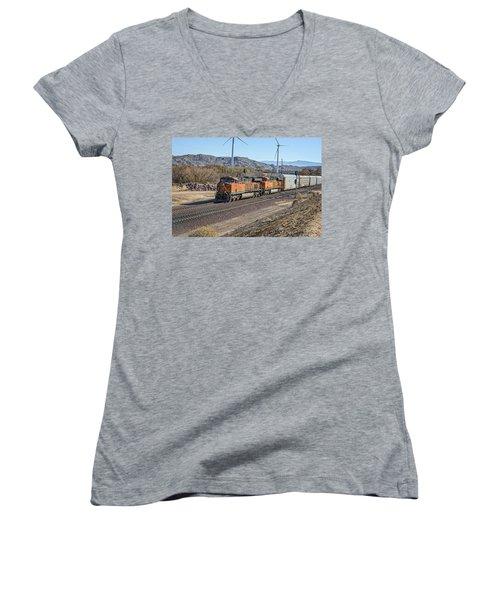 Bnsf 7454 Women's V-Neck T-Shirt