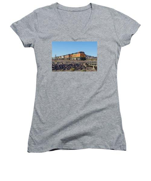 Bnsf 7649 Women's V-Neck T-Shirt