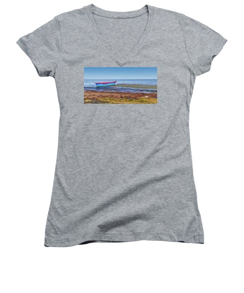 Boat At The Pond Women's V-Neck