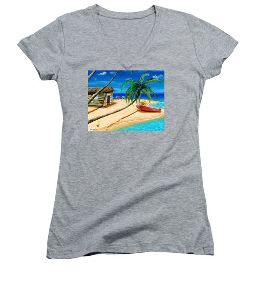 Boat Rent Women's V-Neck (Athletic Fit)