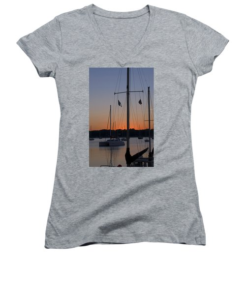 Boats At Beaufort Women's V-Neck (Athletic Fit)