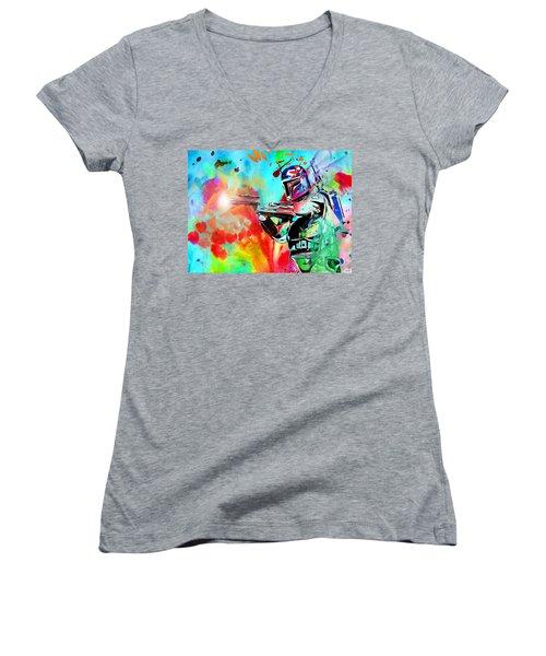Boba Fett Star Wars Women's V-Neck T-Shirt (Junior Cut)