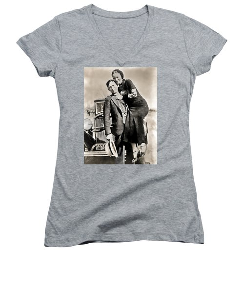 Bonnie And Clyde - Texas Women's V-Neck (Athletic Fit)