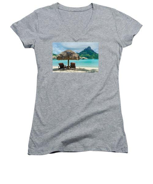 Bora Bora Beach Women's V-Neck