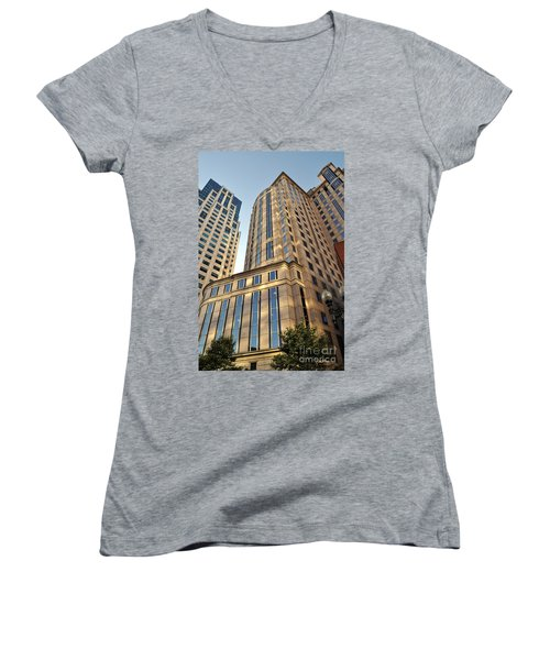 Boston Skyscrapers Women's V-Neck (Athletic Fit)
