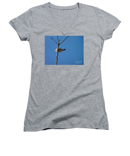 Women's V-Neck T-Shirt (Junior Cut) featuring the photograph Bottoms Up by Meghan at FireBonnet Art