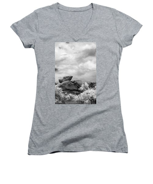 Boulders In Another Light Women's V-Neck T-Shirt
