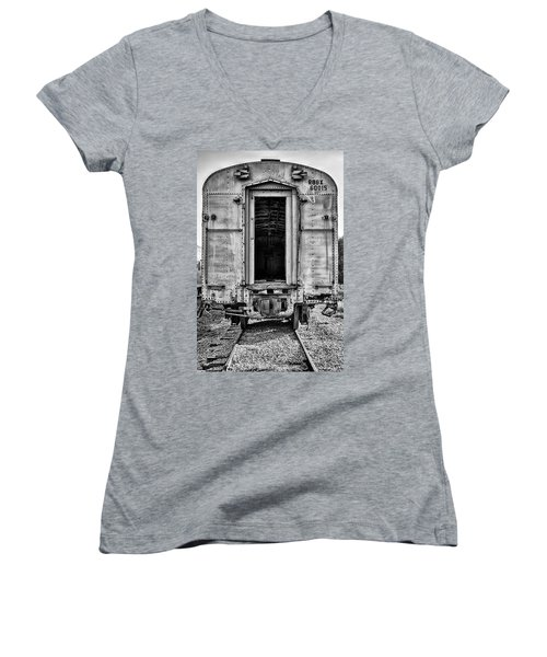 Box Car In Bw Women's V-Neck T-Shirt