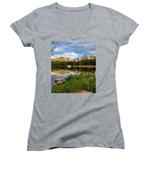 Brainard Lake Reflections Women's V-Neck (Athletic Fit)