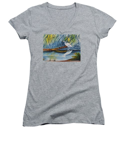 Branching Off Women's V-Neck (Athletic Fit)