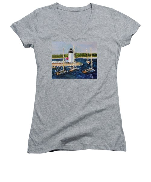 Brant Lighthouse Nantucket Women's V-Neck