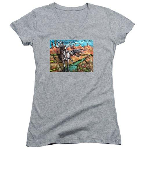 Break Free Women's V-Neck T-Shirt