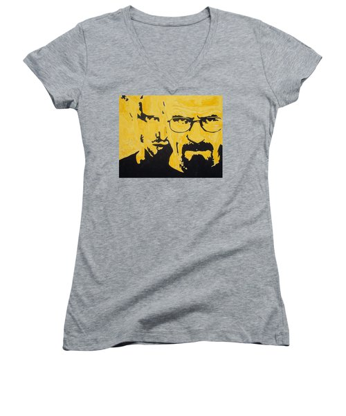 Breaking Bad Yellow Women's V-Neck (Athletic Fit)
