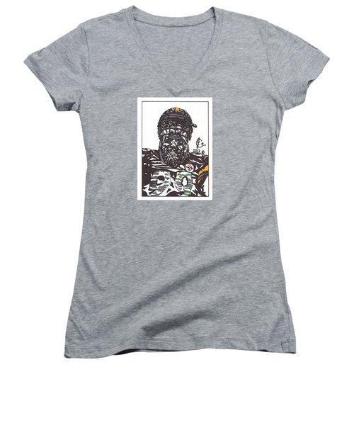 Brett Keisel 2 Women's V-Neck T-Shirt