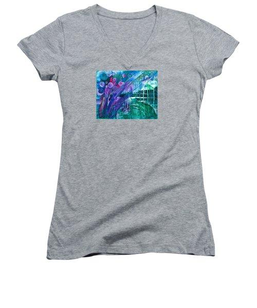 Bridge Park Women's V-Neck T-Shirt (Junior Cut) by Adria Trail