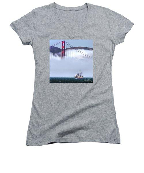 Bridge Sailing Women's V-Neck (Athletic Fit)