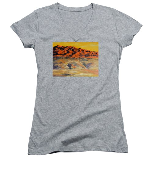 Brilliant Montana Mountains And Foothills Women's V-Neck