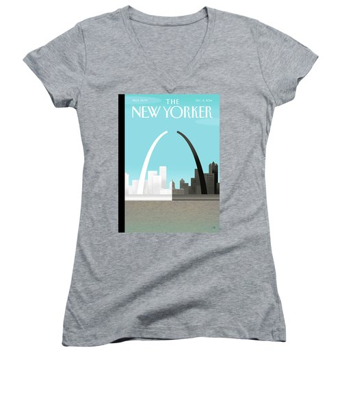 Broken Arch. A Scene From St. Louis Women's V-Neck