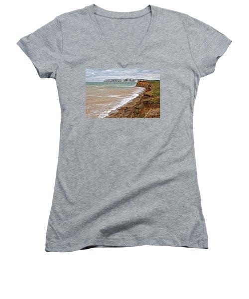 Brook Bay And Chalk Cliffs Women's V-Neck