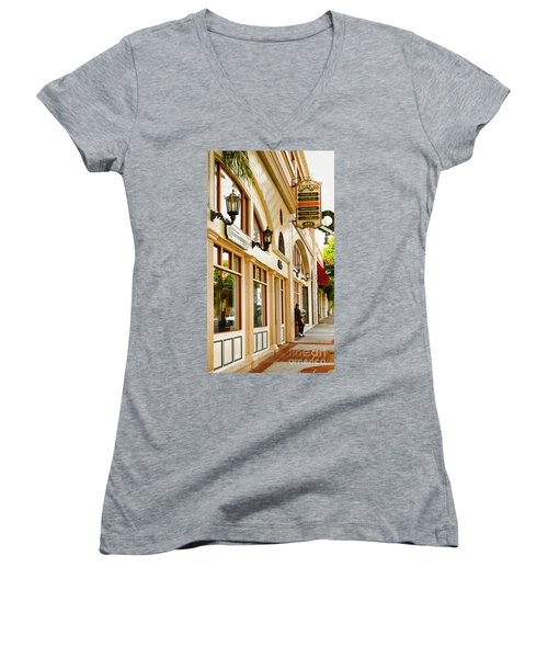 Brown Bros Building Women's V-Neck T-Shirt