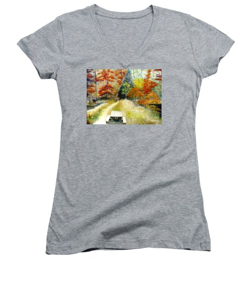 Brown County Women's V-Neck T-Shirt