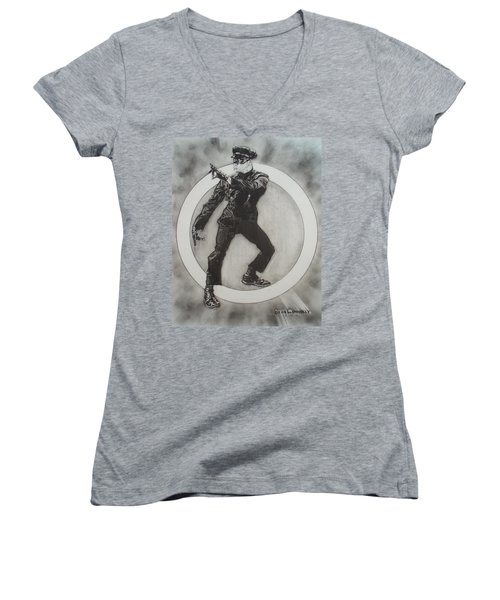 Bruce Lee Is Kato 3 Women's V-Neck T-Shirt (Junior Cut) by Sean Connolly