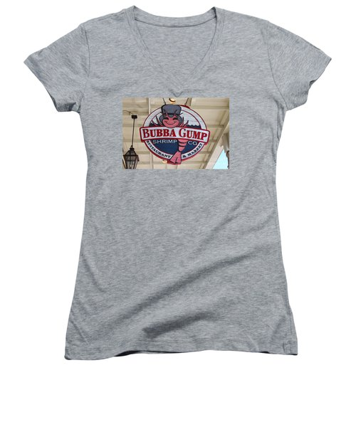 Bubba Gump Shrimp Co. Women's V-Neck (Athletic Fit)
