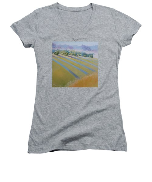 Buck Mountain Vineyards No.2 Women's V-Neck T-Shirt