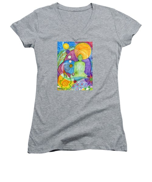 Buddha Of Infinite Possibilities Women's V-Neck (Athletic Fit)