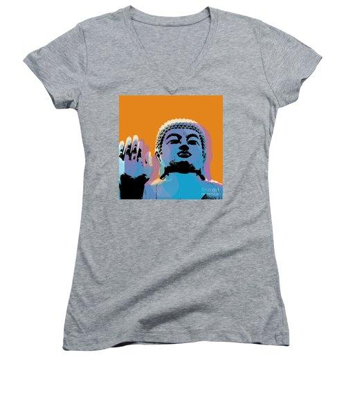 Buddha Pop Art - Warhol Style Women's V-Neck