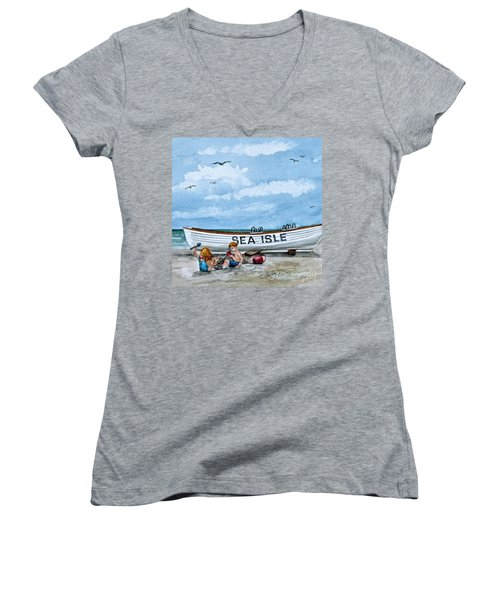 Buddies In Sea Isle City 2 Women's V-Neck (Athletic Fit)