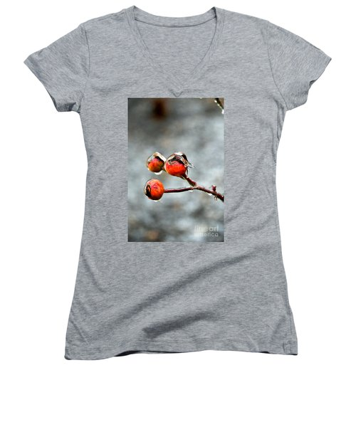 Buds On Ice Women's V-Neck (Athletic Fit)
