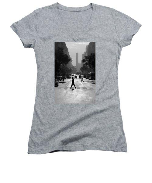 Buenos Aires Obelisk II Women's V-Neck T-Shirt