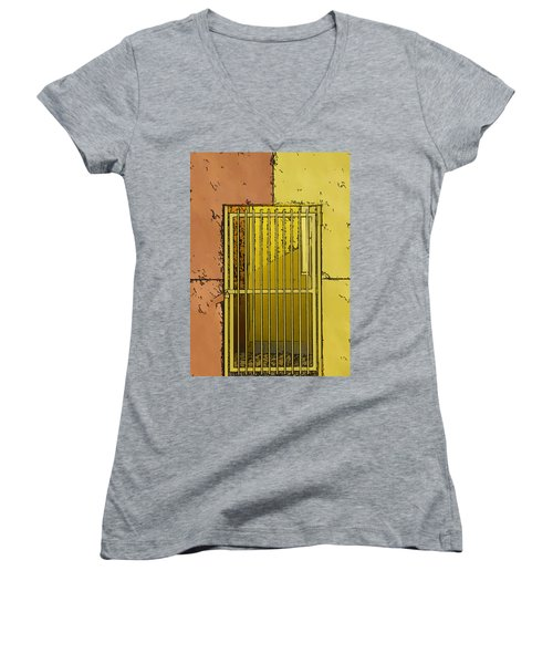 Building Access Denied Women's V-Neck (Athletic Fit)