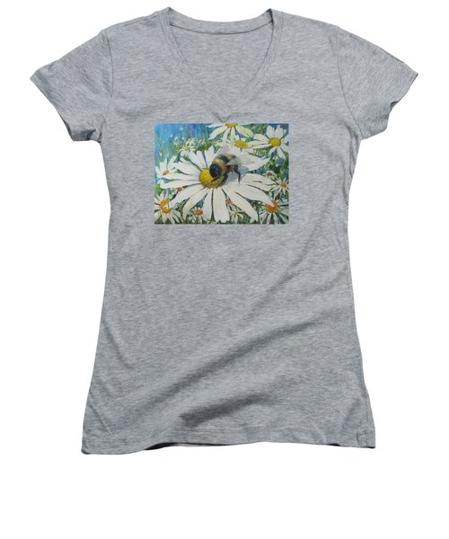 Bumblebee Women's V-Neck (Athletic Fit)
