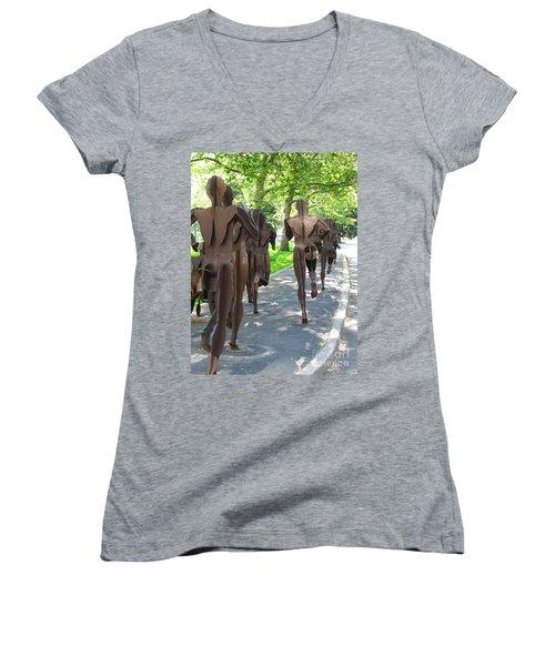 Buns Of Steel Women's V-Neck T-Shirt