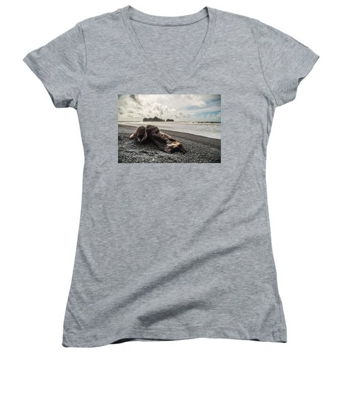Buried Women's V-Neck T-Shirt