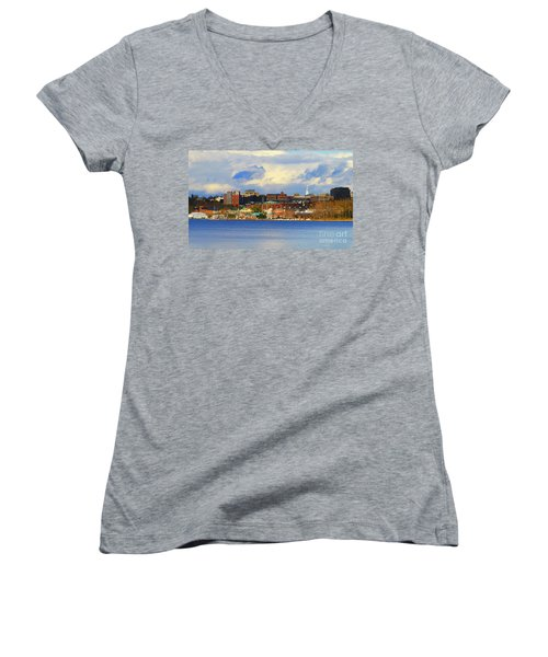 Burlington Vermont Lakefront Women's V-Neck