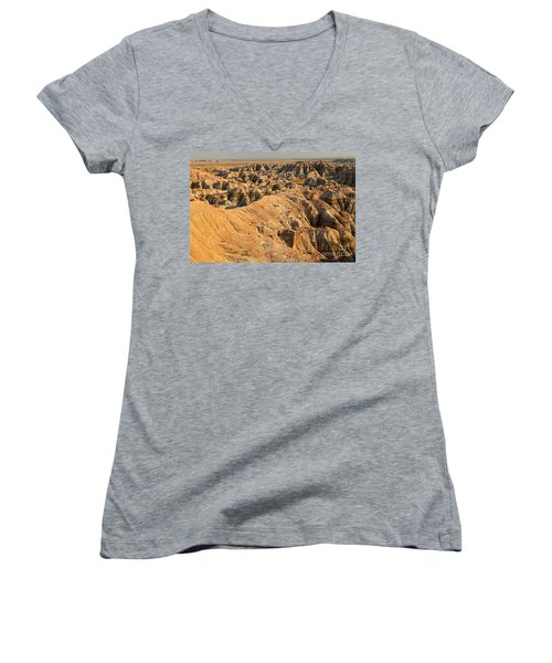 Burns Basin Overlook Badlands National Park Women's V-Neck (Athletic Fit)