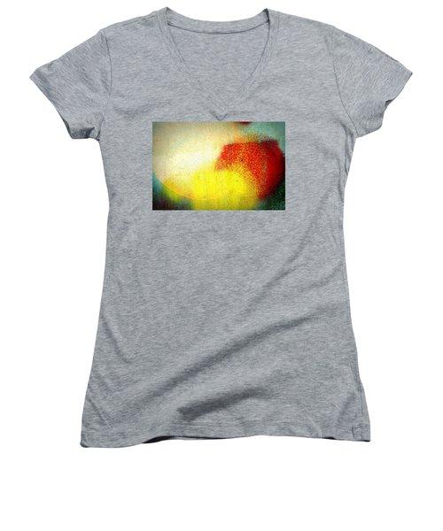 Burst Women's V-Neck T-Shirt