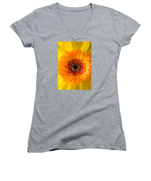 Burst Of Sunshine Women's V-Neck T-Shirt (Junior Cut) by Shelby  Young