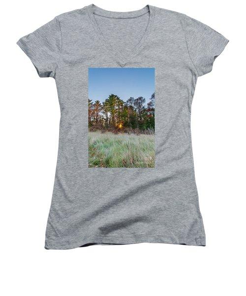 Burst Thru The Woods Women's V-Neck T-Shirt