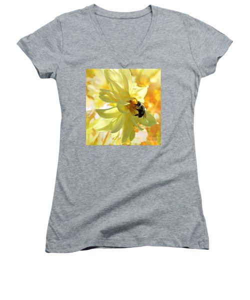 Busy Bumble Bee Women's V-Neck T-Shirt