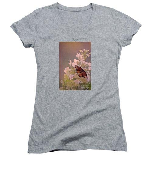 Butterfly Glow Women's V-Neck T-Shirt