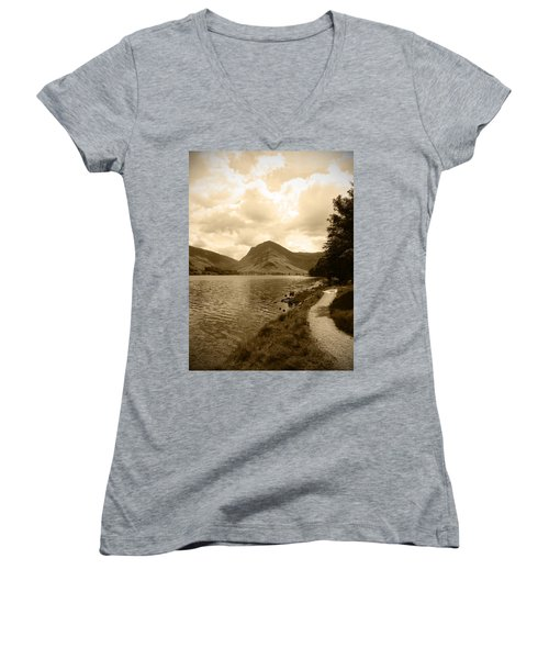 Buttermere Bright Sky Women's V-Neck T-Shirt
