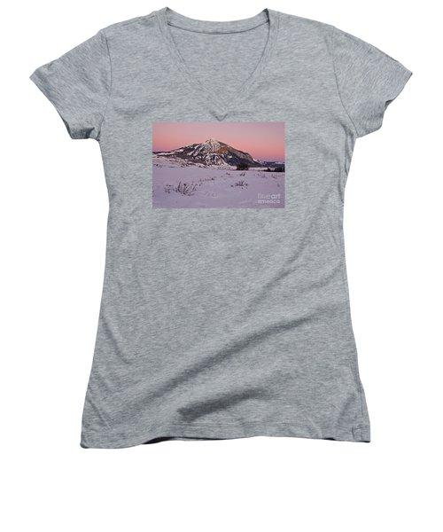 Butte's Winter Glow Women's V-Neck T-Shirt