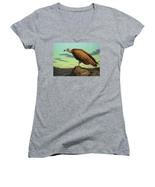 Buzzard Rock Women's V-Neck T-Shirt (Junior Cut)