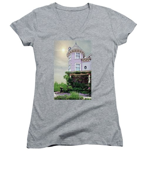 By The Seaside Women's V-Neck T-Shirt (Junior Cut)